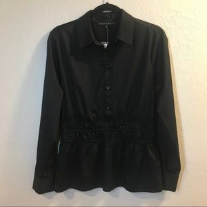 Antonio Melani Black Dress Shirt w/Sinched…